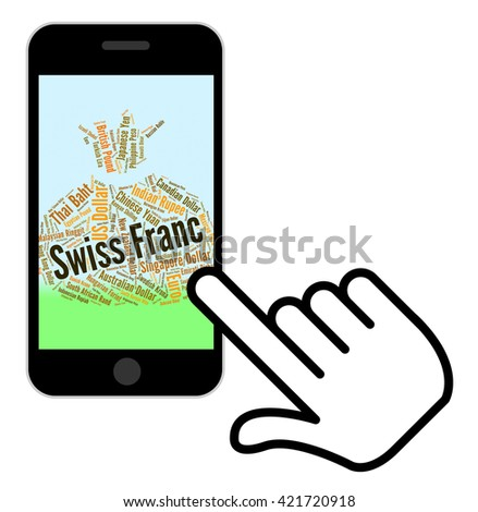 Swiss Franc Representing Foreign Currency And Banknotes - stock photo