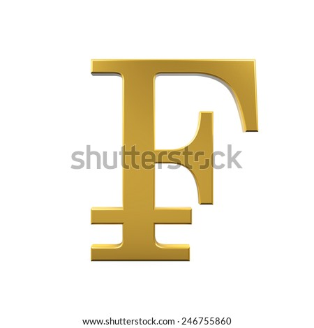 Swiss Franc Symbol - stock photo
