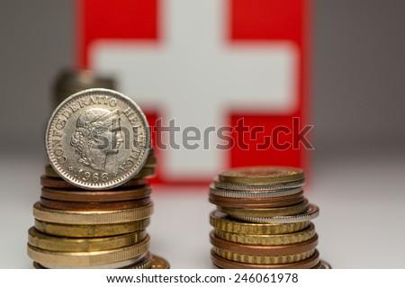 Swiss franks - stock photo