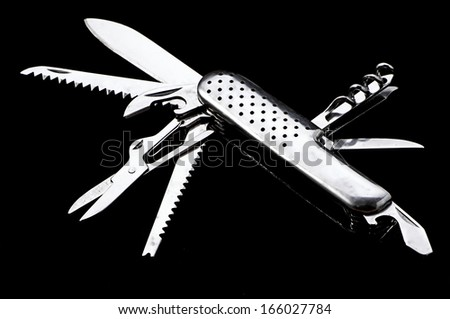 Swiss knife - stock photo