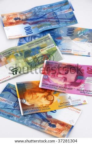 Swiss money - stock photo