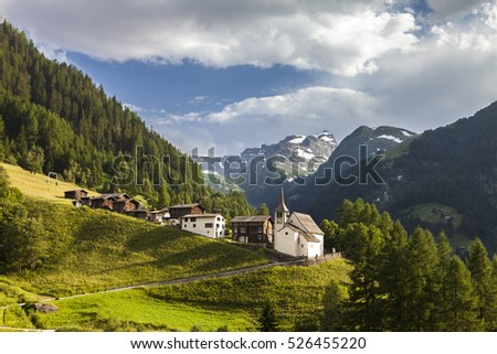 swiss mountain village binn in the binntal valley