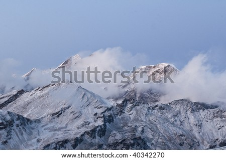 swiss mountains - stock photo