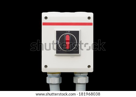switch control on black background. - stock photo