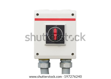 switch control on white background. - stock photo