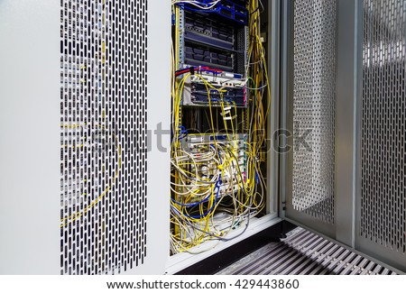 switch for cellular backhaul in the data center - stock photo