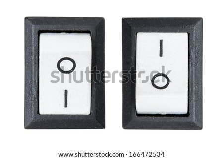 switch Isolated on white background - stock photo