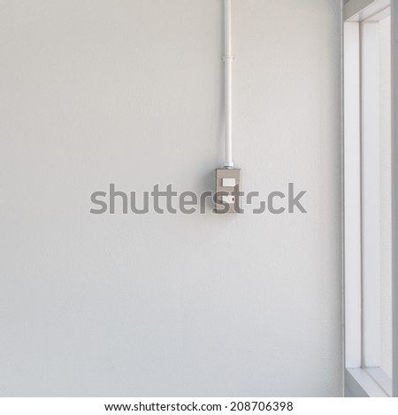 switch light on white wall