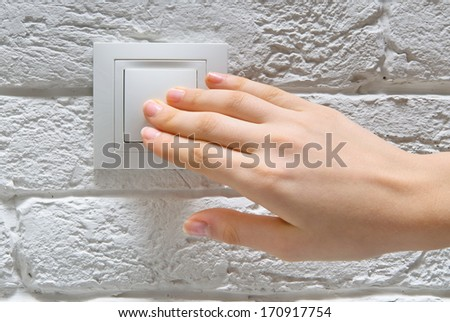 Switch off light - stock photo