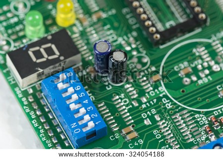 switch on the printed circuit board