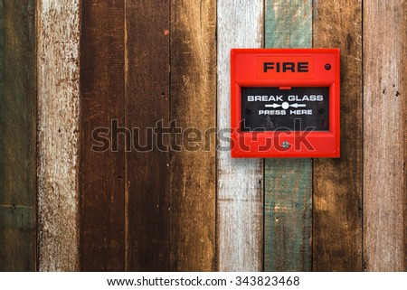 Switch on the wood fire alarm. - stock photo