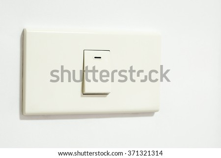 switch or light switch on switchboard