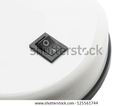 Switch to black on white base - stock photo