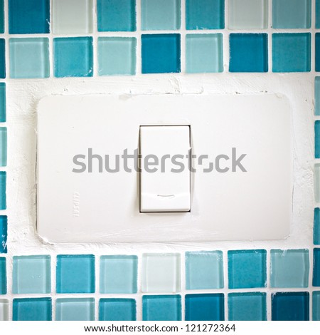 Switch turn on off lamp - stock photo