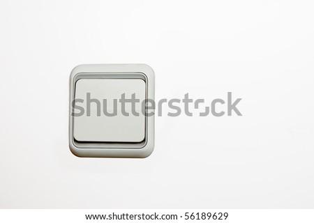 Switch, white - stock photo