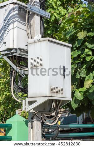 Switching cabinet - stock photo