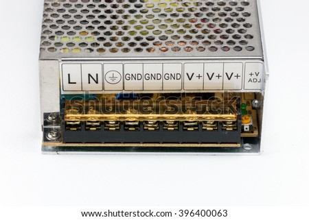 Switching power supply output contact