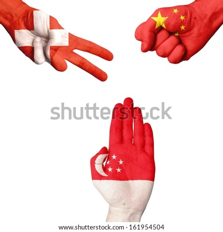 Switzerland China Singapore rock-paper-scissors