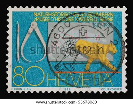 SWITZERLAND - CIRCA 1982: A stamp printed in Switzerland showing Museum of nature history, circa 1982