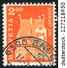 SWITZERLAND - CIRCA 1967: stamp printed by Switzerland, shows A Pro Castle, Seedorf, circa 1967 - stock photo