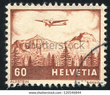 SWITZERLAND - CIRCA 1941: stamp printed by Switzerland, shows Alpstein, circa 1941