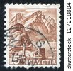 SWITZERLAND - CIRCA 1936: stamp printed by Switzerland, shows Mt. Pilatus, circa 1936 - stock photo