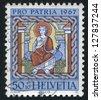 SWITZERLAND - CIRCA 1967: stamp printed by Switzerland, shows St. Joseph, circa 1967 - stock photo