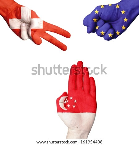 Switzerland EU Singapore rock-paper-scissors