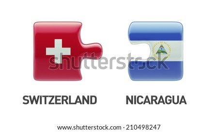 Switzerland Nicaragua High Resolution Puzzle Concept