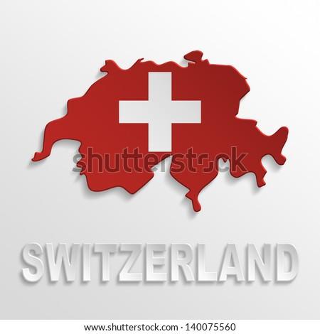 switzerland poster - stock photo