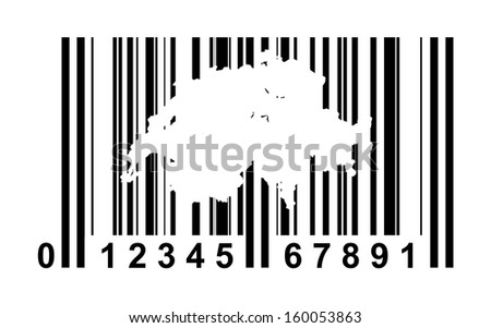 Switzerland shopping bar code isolated on white background.