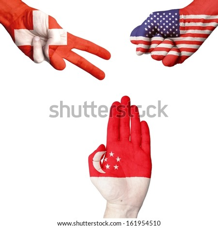 Switzerland USA Singapore rock-paper-scissors