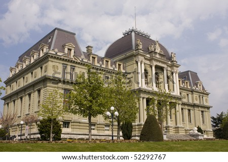Switzerland - View of the courthouse in Lausanne - stock photo
