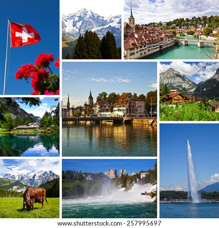 Switzerland Views Collage