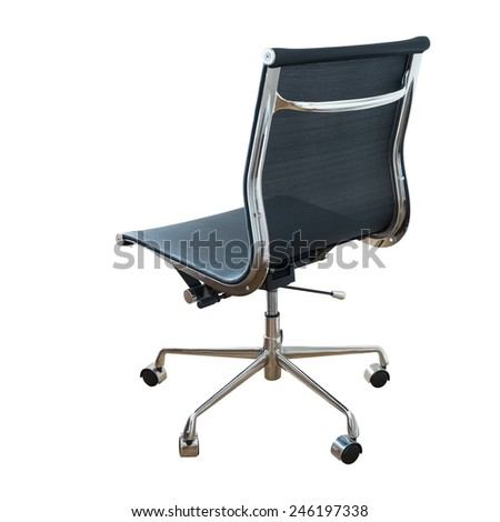 swivel chair isolated on white with clipping path - stock photo