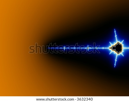 Sword Fractal - stock photo