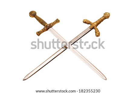 sword isolated on white background - stock photo