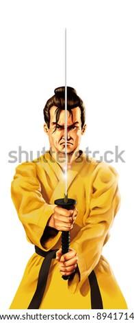 sword man - stock photo