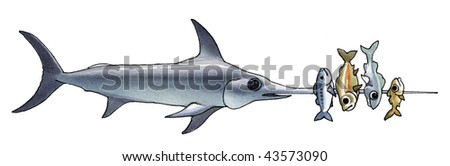 swordfish - stock photo