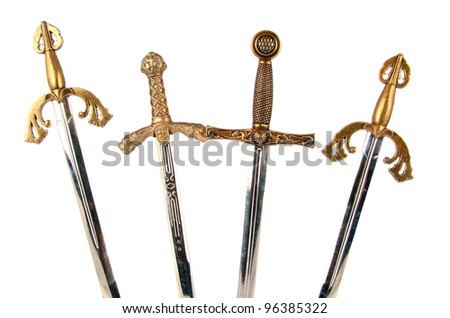 Swords isolated on white background - stock photo