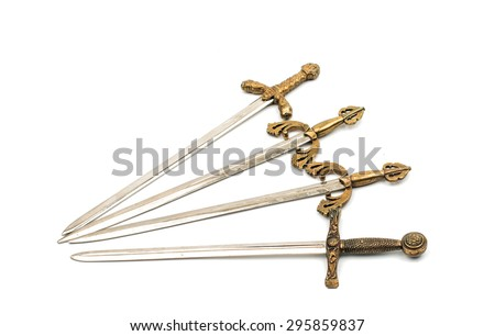 Swords on a white background