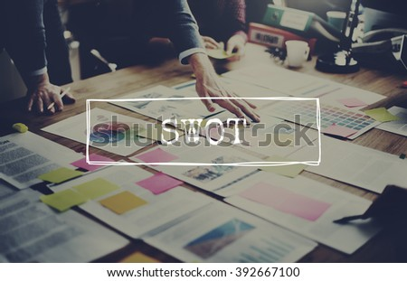SWOT Analysis Business Strategy Planning Concept - stock photo