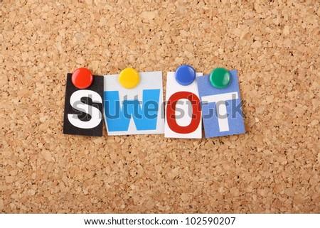 SWOT is the business planning acronym for analysis Strengths,Weaknesses,Opportunities and Threats when starting a project,business plan or undergoing change management
