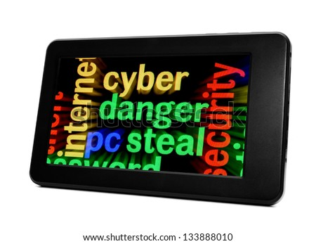 Syber danger concept - stock photo