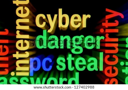 Syber  danger steal - stock photo