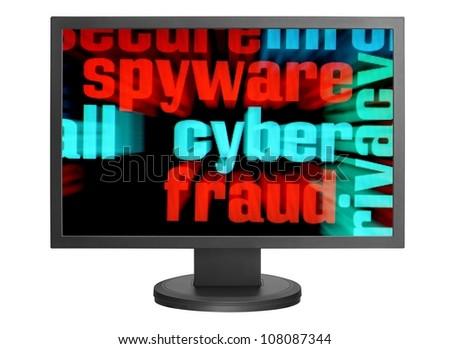 Syber  fraud - stock photo