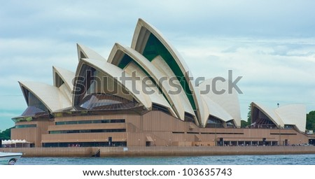 SYDNEY - APRIL 22: Sydney Opera House view on April 22, 2012 in Sydney, Australia. The Sydney Opera House is a famous arts center. It was designed by Danish architect Jorn Utzon, opening in 1973.