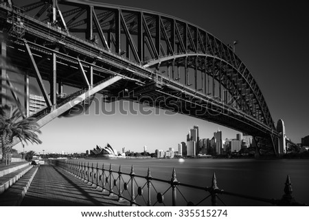 SYDNEY - APRIL 27: The Sydney Opera House is a multi-venue performing arts centre close to the Sydney Harbour Bridge and the Sydney central business district. April 27, 2015 in Sydney, Australia. - stock photo