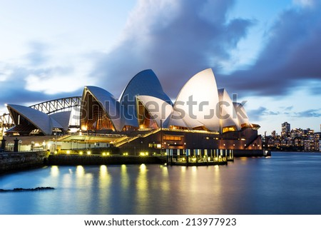 SYDNEY - August 20th: The Iconic Sydney Opera House is a multi-venue performing arts centre. August 20th, 2014 in Sydney, Australia.