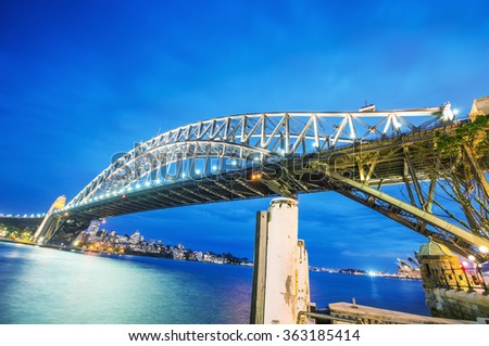 Sydney, Australia. Amazing view of Harbour Bridge.